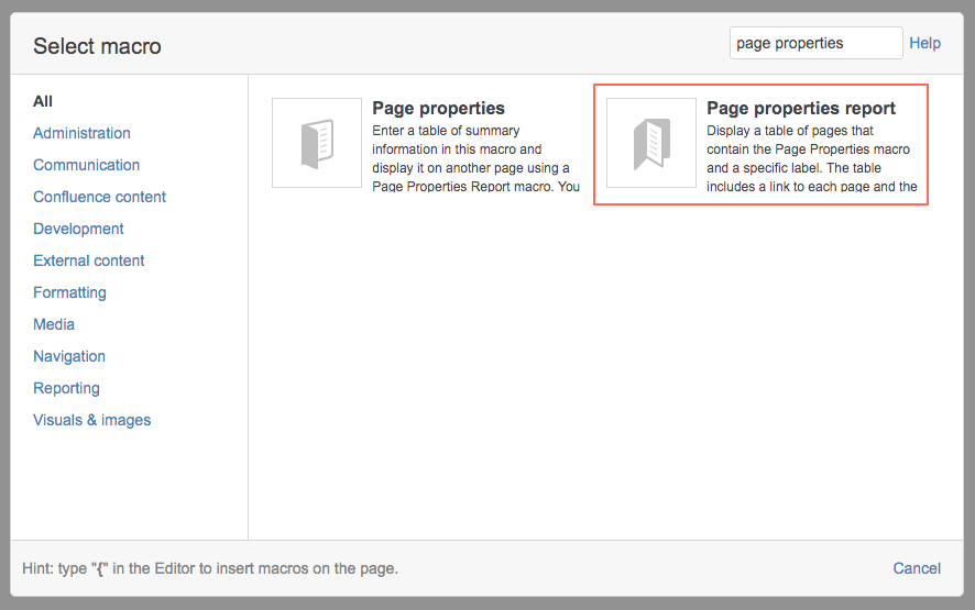 page-properties-report-macro